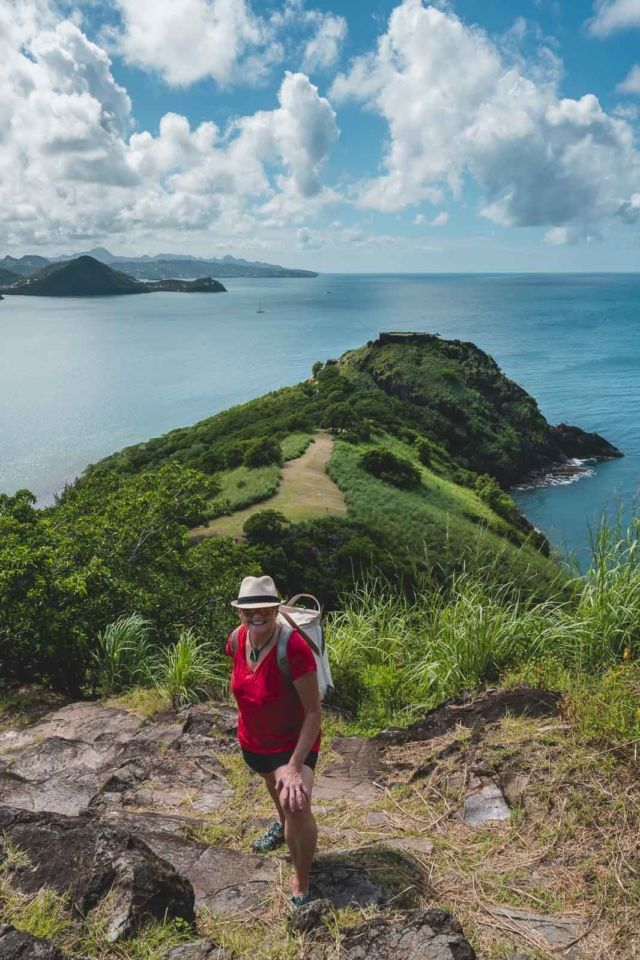 Hiking in Pigeon Island National Park St. Lucia