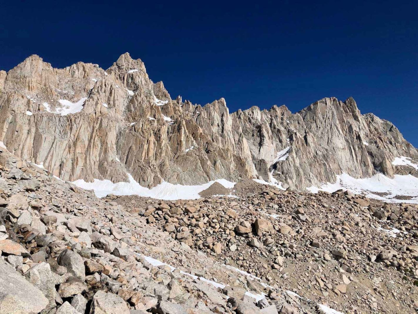 view of jagged peaks on mount whitney