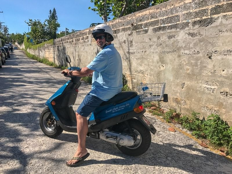 One of the best things to do in Bermuda is to rent a scooter
