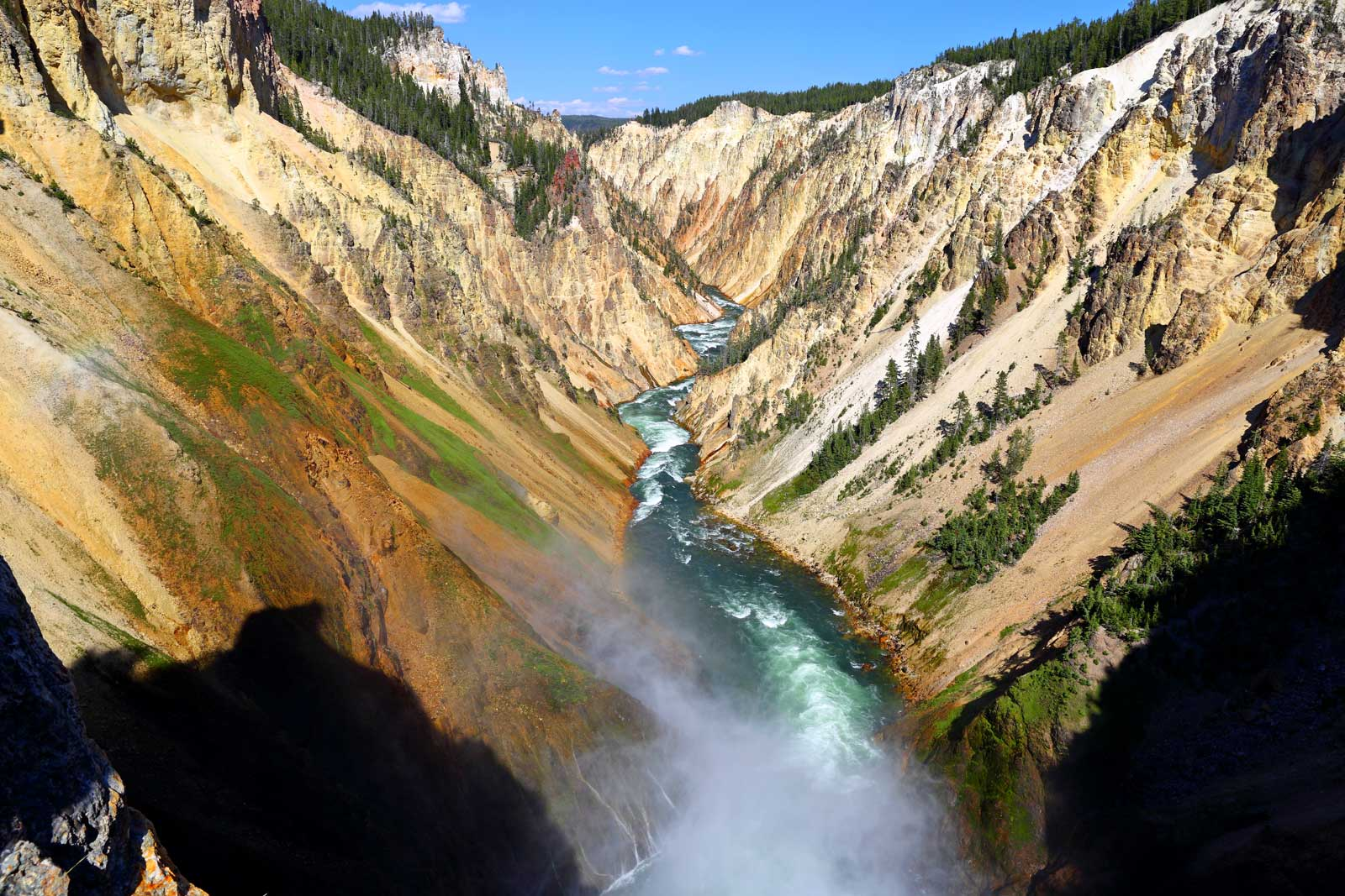 Brink of Lower Falls hiking Trail in Yellowstone